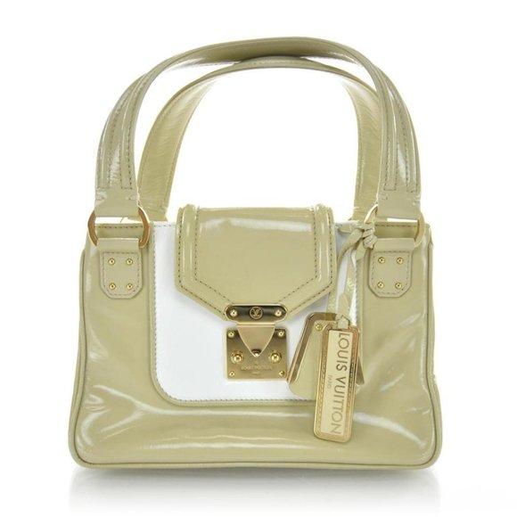 Louis Vuitton Beige Vernis Sac-Bicolore PM Bag